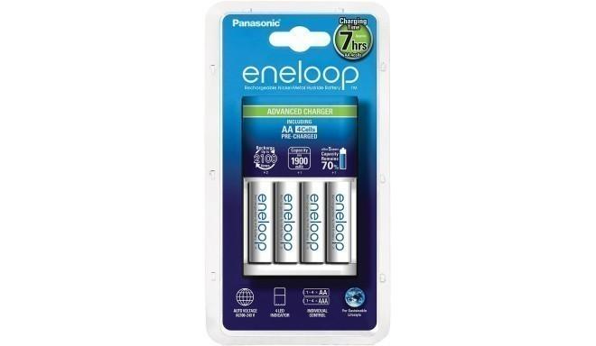 Panasonic eneloop зарядное устройство BQ-CC17 + 4x1900