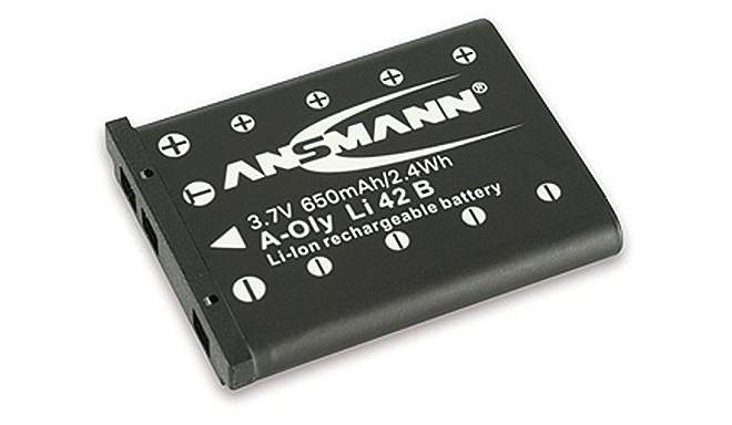 Ansmann battery (Olympus LI-42B, 650mAh)