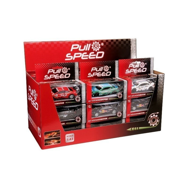 Pull & Speed Mixed Sport Cars Display - Model kits - Photopoint