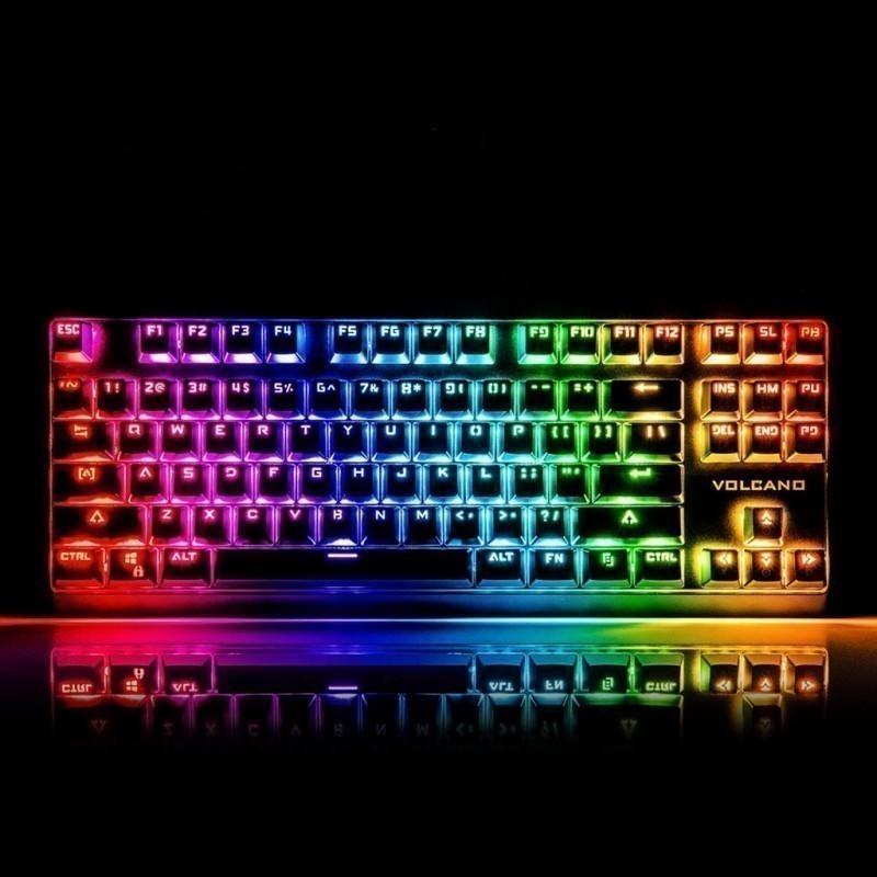 MODECOM Mechanical Keyboard VOLCANO Lanparty RGB (OUTEMU Blue Switch) US  layout