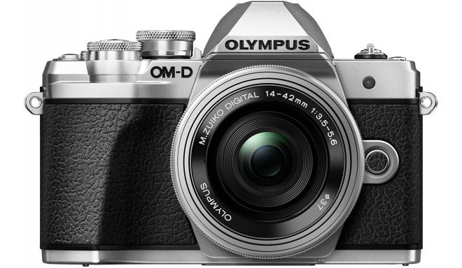 Olympus OM-D E-M10 Mark III + 14-42mm EZ Kit, sudrabots