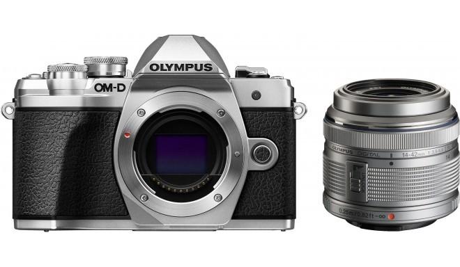 Olympus OM-D E-M10 Mark III + 14-42mm II R Kit, серебряный