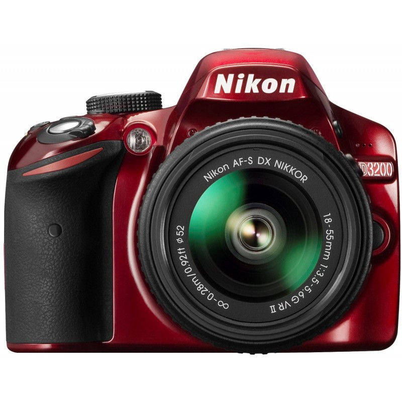Nikon D3200 + 18-55mm VR II Kit, punane