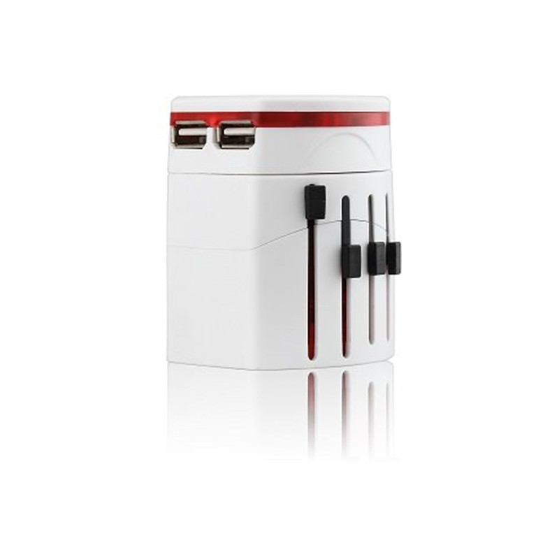 Omega reisiadapter 4in1 USB, valge (42010)