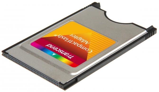 Transcend PCMCIA adapter CF