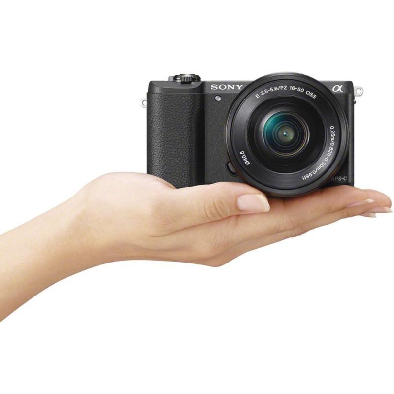 Sony a5100 + 16-50mm + 55-210mm Kit, black