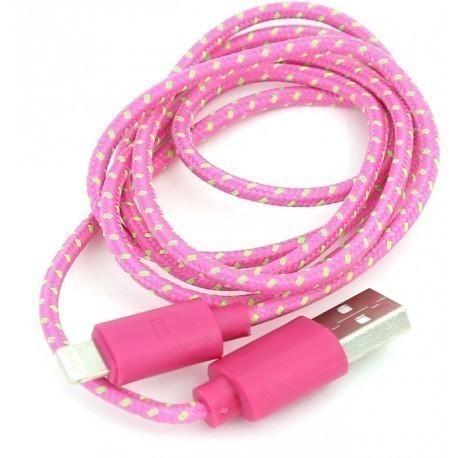 Omega кабель Lightning 1м, розовый (42309)