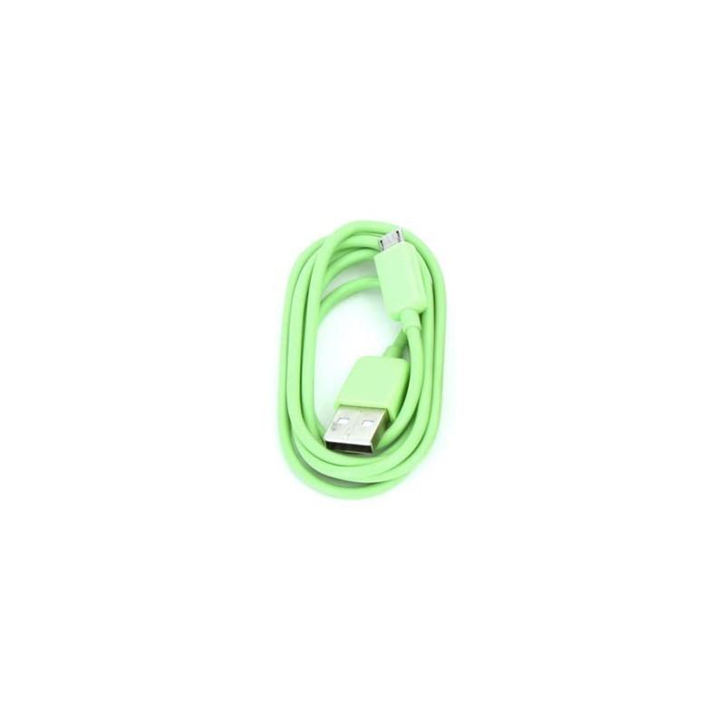 Omega kaabel microUSB 1m, roheline (42334)