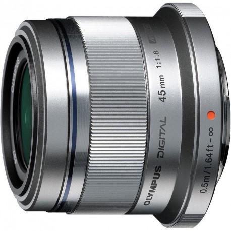 M.Zuiko Digital 45mm f/1.8 objektiiv, hõbedane