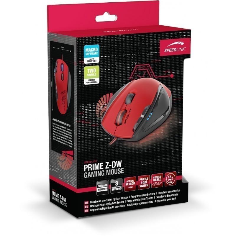 Speedlink hiir Prime Z-DW SL6390-RD, punane