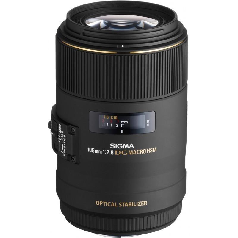 Sigma AF 105mm f/2.8 EX DG OS HSM Macro objektiiv Canonile