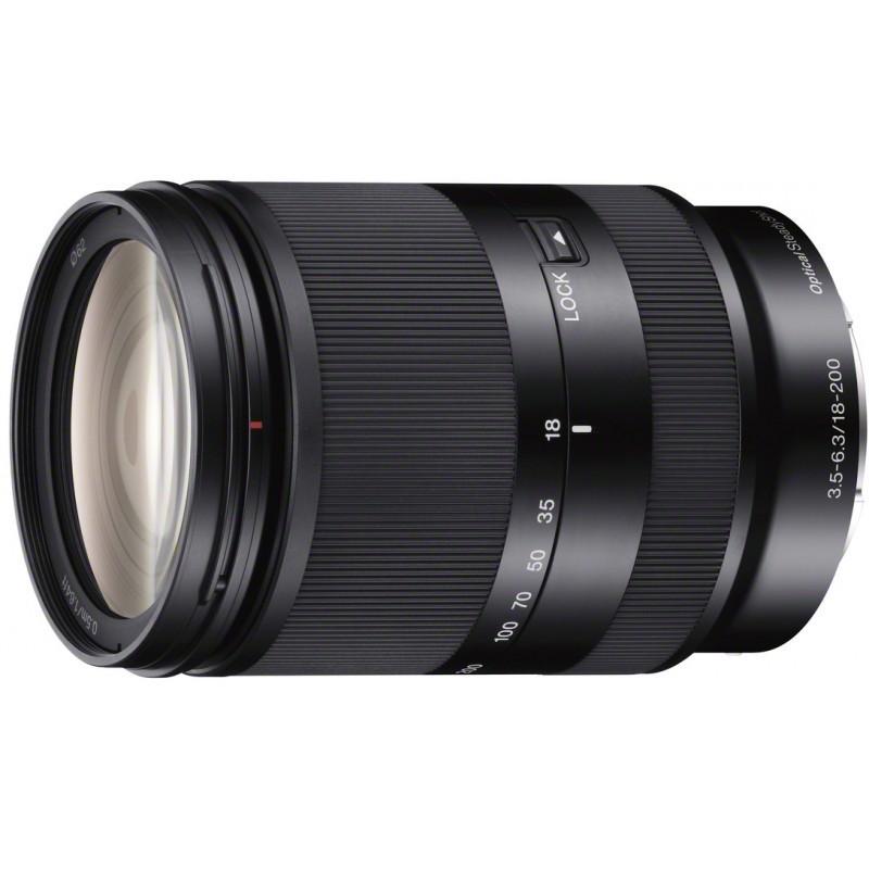 Sony E 18-200mm f/3.5-6.3 OSS, black