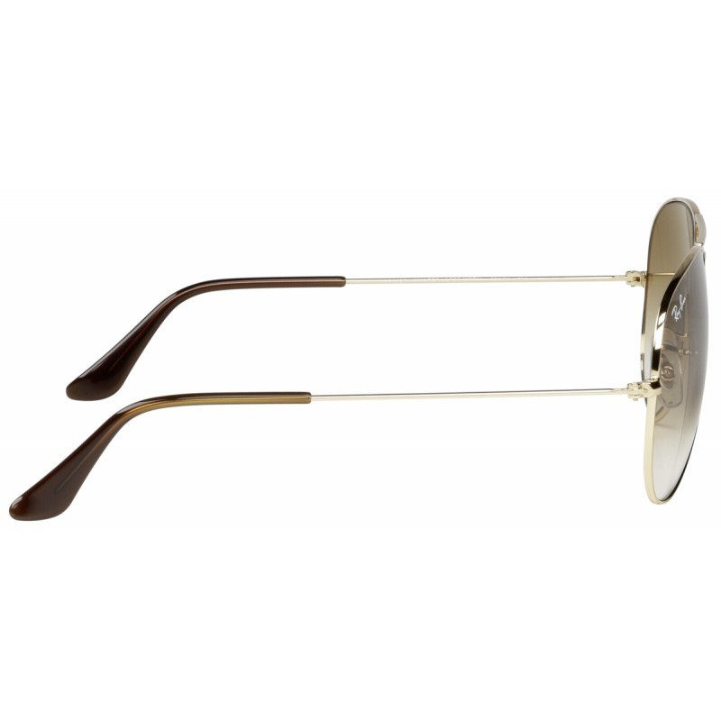 RayBan Aviator RB3025 001 51 58 gold crystal brown gradient ... def8ace758
