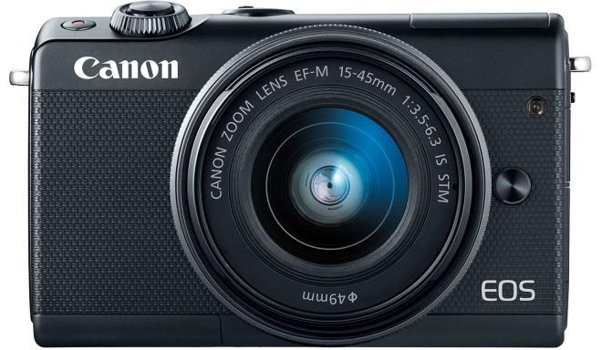 Canon EOS M100 + EF-M 15-45 мм IS STM, черный