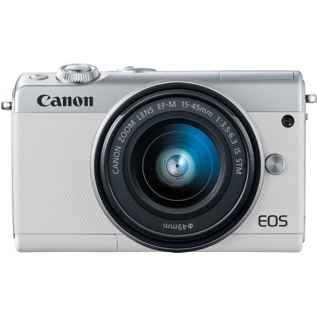 Canon EOS M100 + EF-M 15-45 мм IS STM, белый