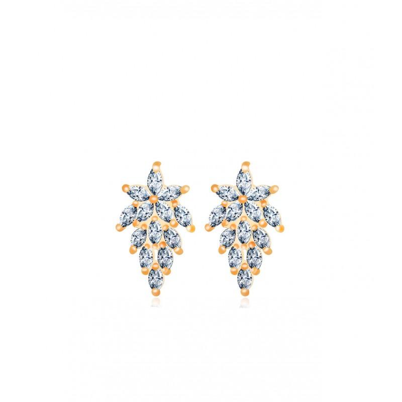 ee7619e1921 OiOi Tsirkoonidega kaunistatud kuldsed kõrvarõngad - Earrings ...