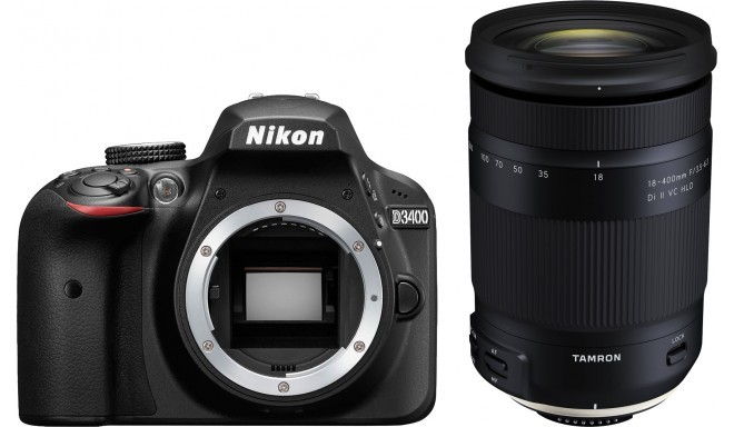 Nikon D3400 + Tamron 18-400mm