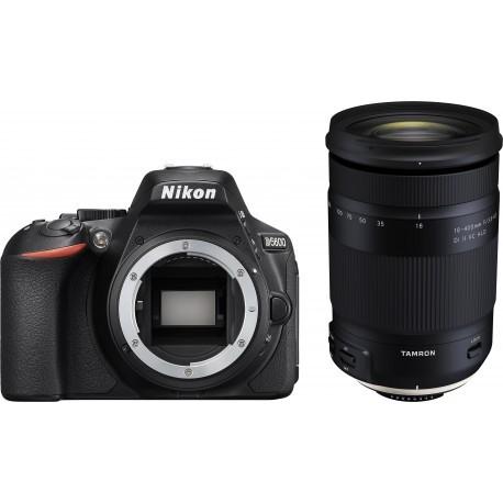 Nikon D5600 + Tamron 18-400mm, melns