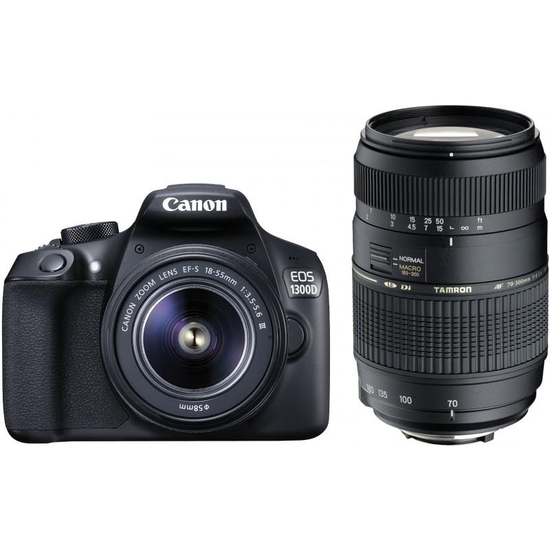 Canon EOS 1300D + 18-55mm DC + Tamron 70-300mm Di LD
