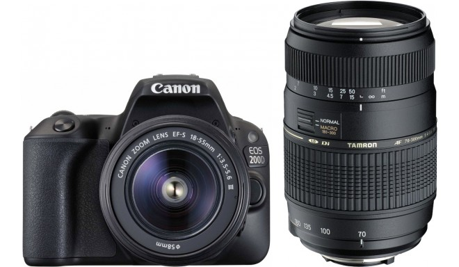 Canon EOS 200D + 18-55mm DC + Tamron 70-300mm Di LD, must
