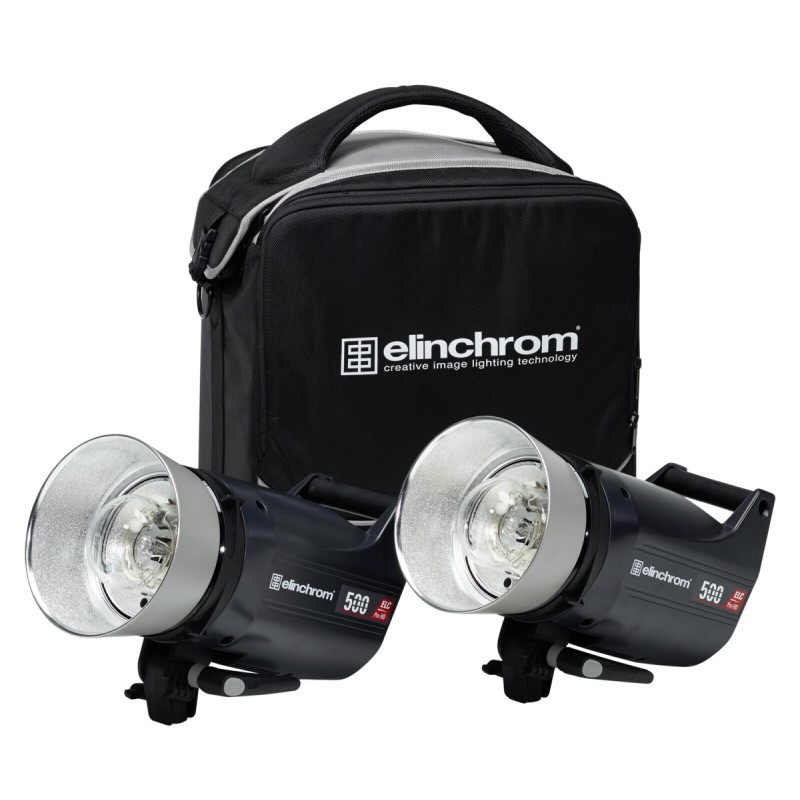 Elinchrom 500 Studio Lighting Kit: Elinchrom ELC Pro HD 500 To Go Set