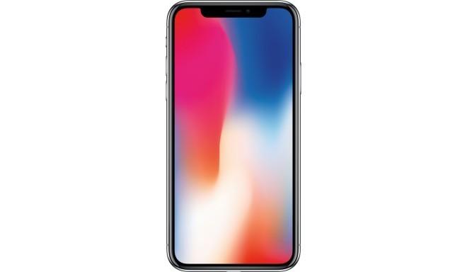 Apple iPhone X 64GB, sudrabots