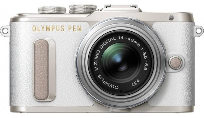 Olympus PEN Lite E-PL8 + 14-42 мм II R Kit, белый/серебряный