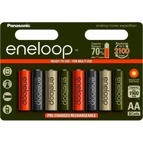 Panasonic eneloop rechargeable battery AA 1900 8B Expedition
