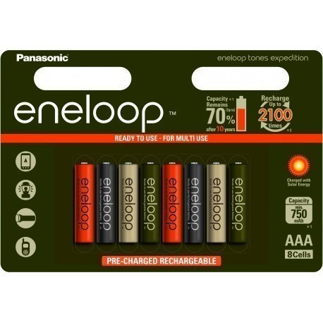 Panasonic eneloop aku AAA 750 8B Expedition