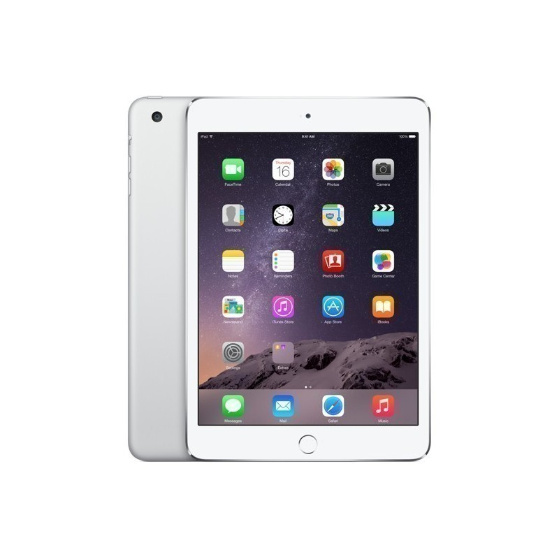 Apple iPad Mini 3 16GB WiFi A1599, hõbedane