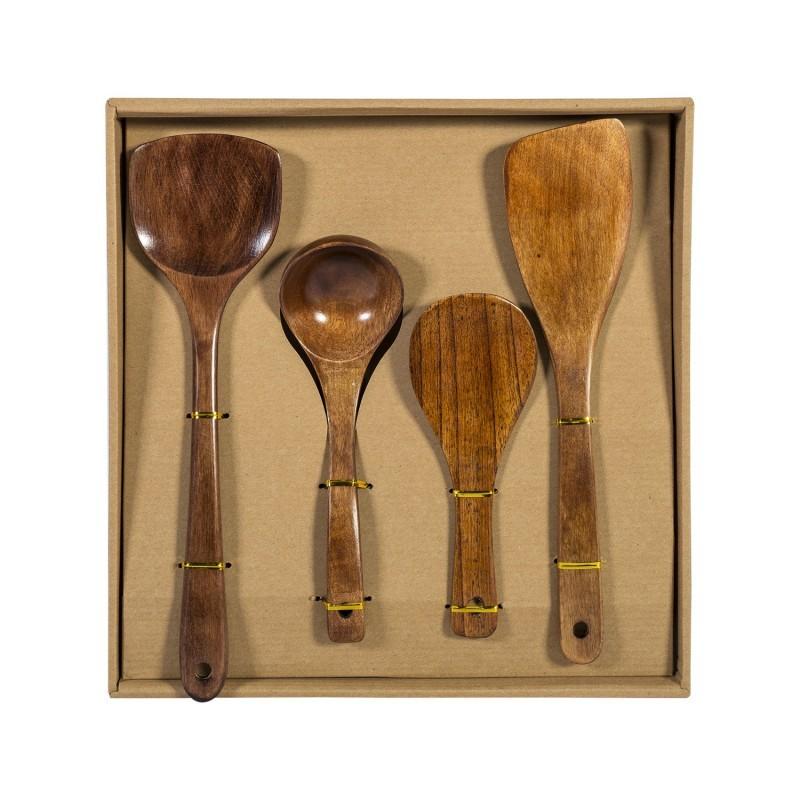 Wooden spoons 4pcs WOOD DESIGN, gift box