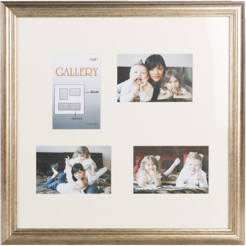 Photo frame Ema Gallery 40x40/4/10x15, bronze (VF3968) - Photo ...