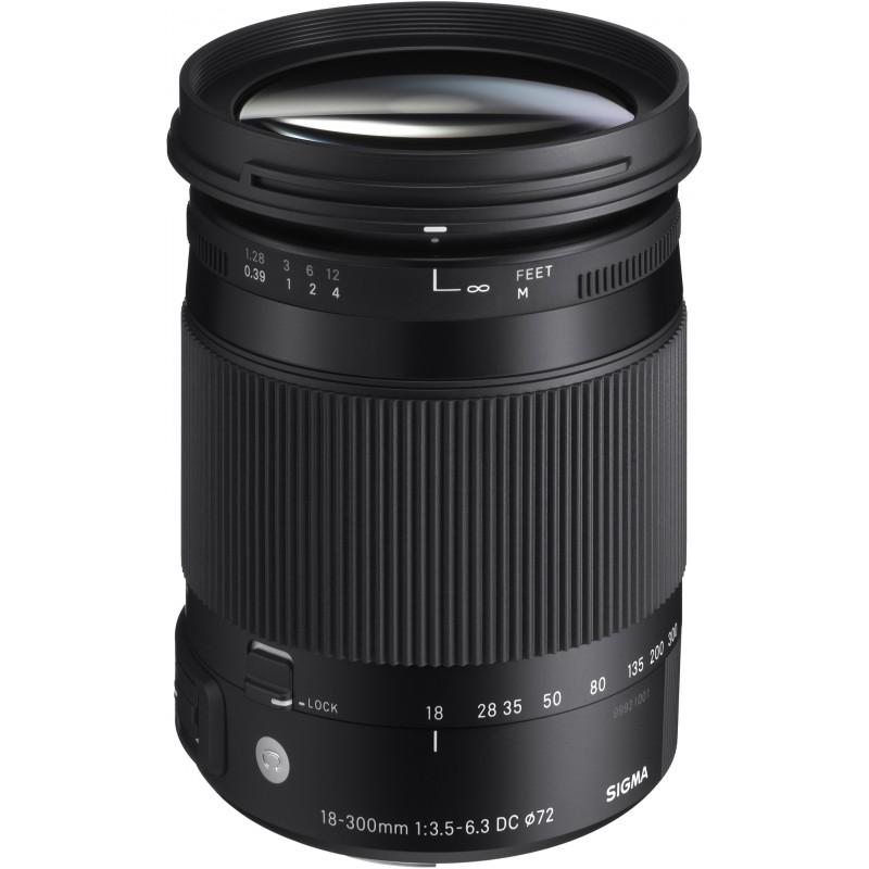 Sigma 18-300mm f/3.5-6.3 DC Macro OS HSM C objektiiv Canonile