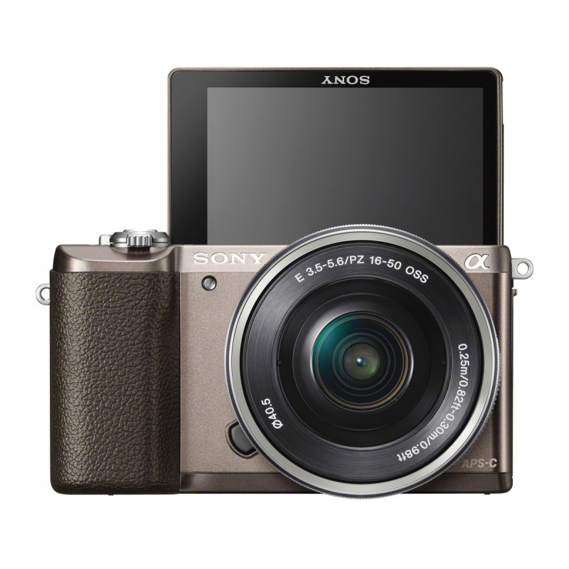 Sony a5100 + 16-50mm Kit, brown