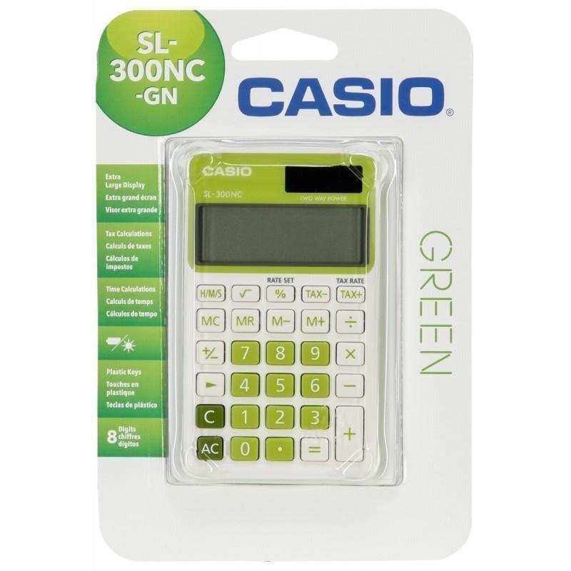 Casio calculator SL-300NC-GN, green