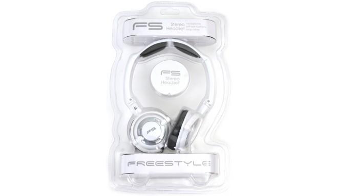 Omega Freestyle kõrvaklapid + mikrofon FH0022, valge