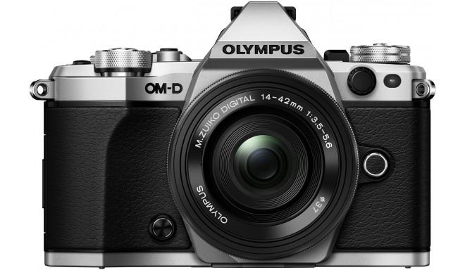 Olympus OM-D E-M5 Mark II + 14-42мм EZ Kit, серебристый
