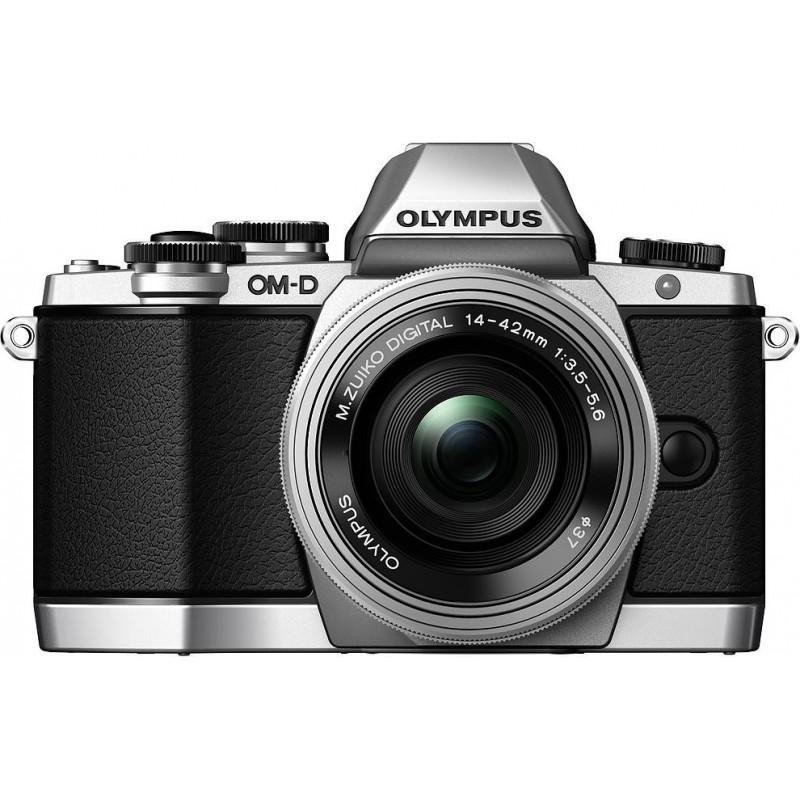 Olympus OM-D E-M10 + 14-42mm EZ + 40-150mm Kit, silver