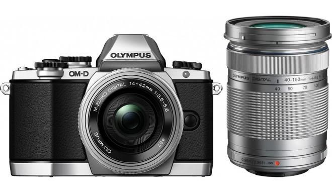 Olympus OM-D E-M10 + 14-42мм EZ + 40-150мм Kit, серебристый