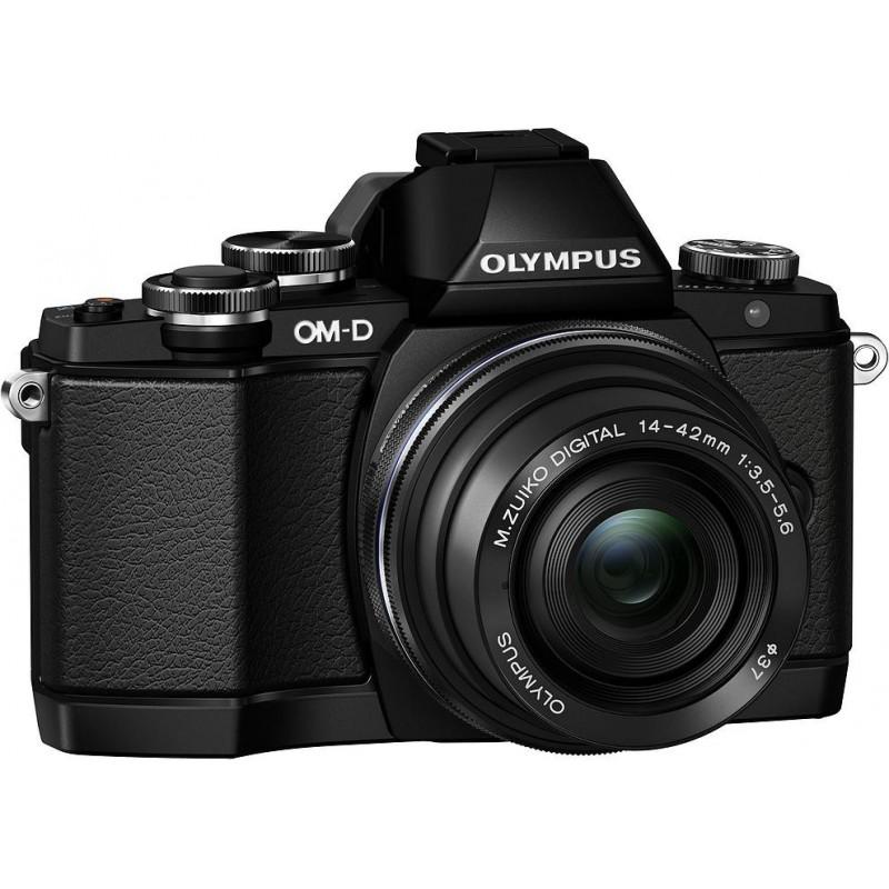 Olympus OM-D E-M10 + 14-42mm EZ + ECG-1 käepide Kit, must