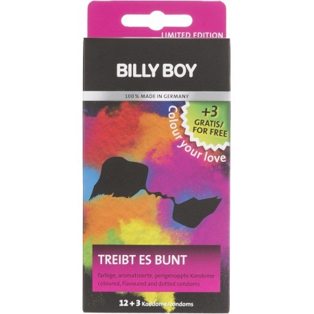 Billy Boy ассорти презервативов Colour Your Love 12+3