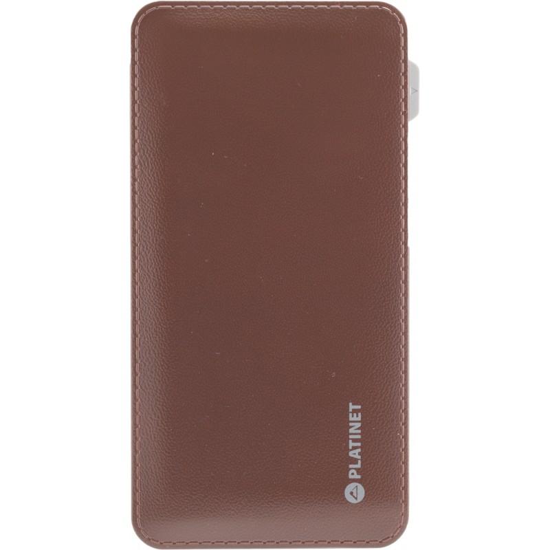Platinet Power Bank Leather 6000mAh, brown (42835)