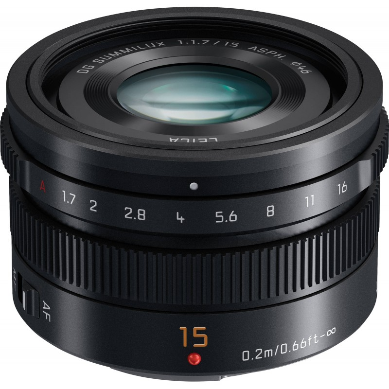 Panasonic Leica DG Summilux 15mm f/1.7 ASPH objektiiv, must