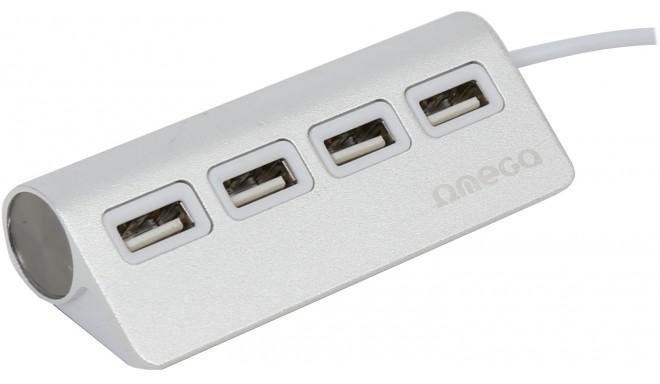 Omega USB 2.0 hub 4-port, silver (OUH4AL)