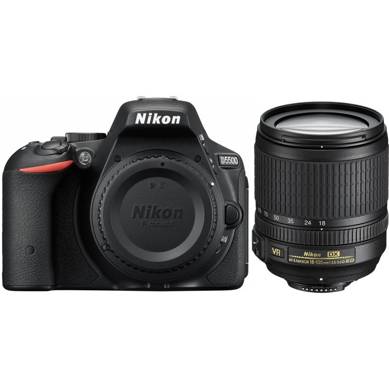 Nikon D5500 + 18-105mm VR II Kit, must