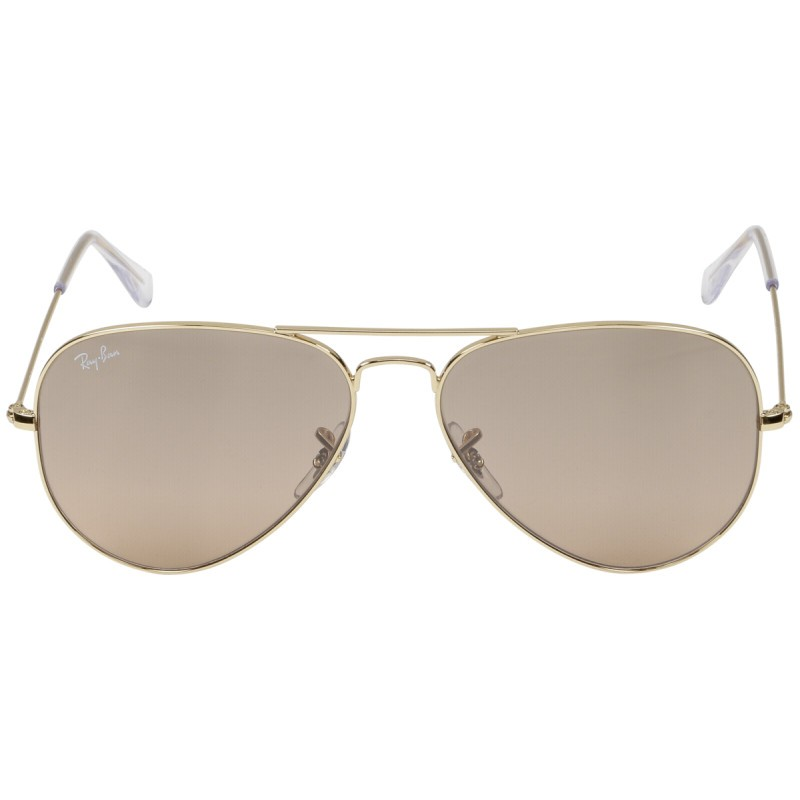 RayBan Aviator RB3025 001 3E 58 gold crys.brown-pink - Sunglasses ... 7e4dc2e9dde5