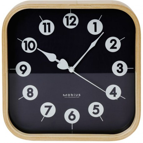 Platinet wall clock Morning, black (42987)