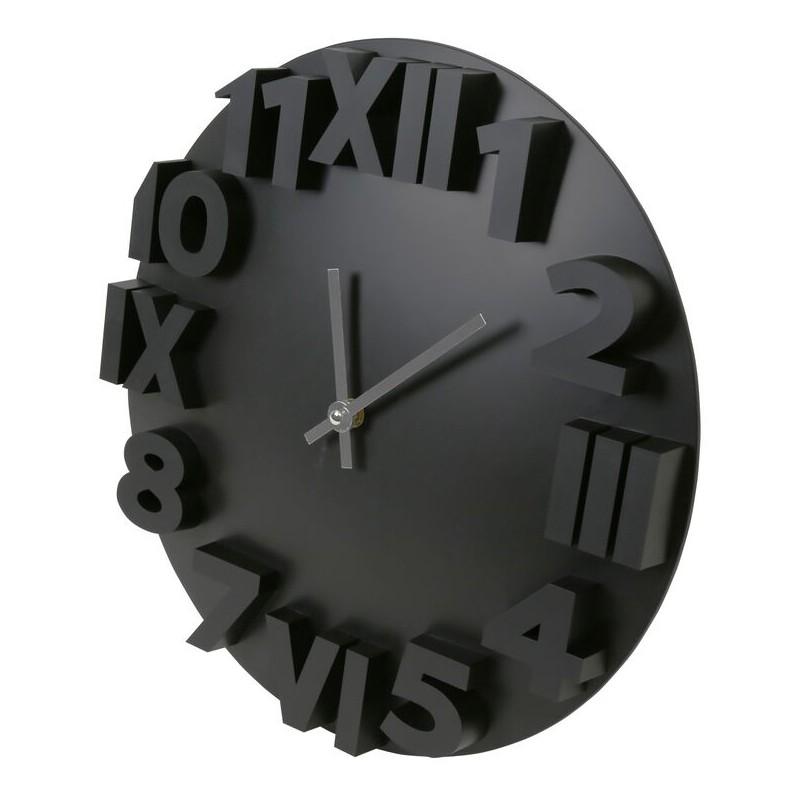 Platinet seinakell Zegar Modern, must (42985)