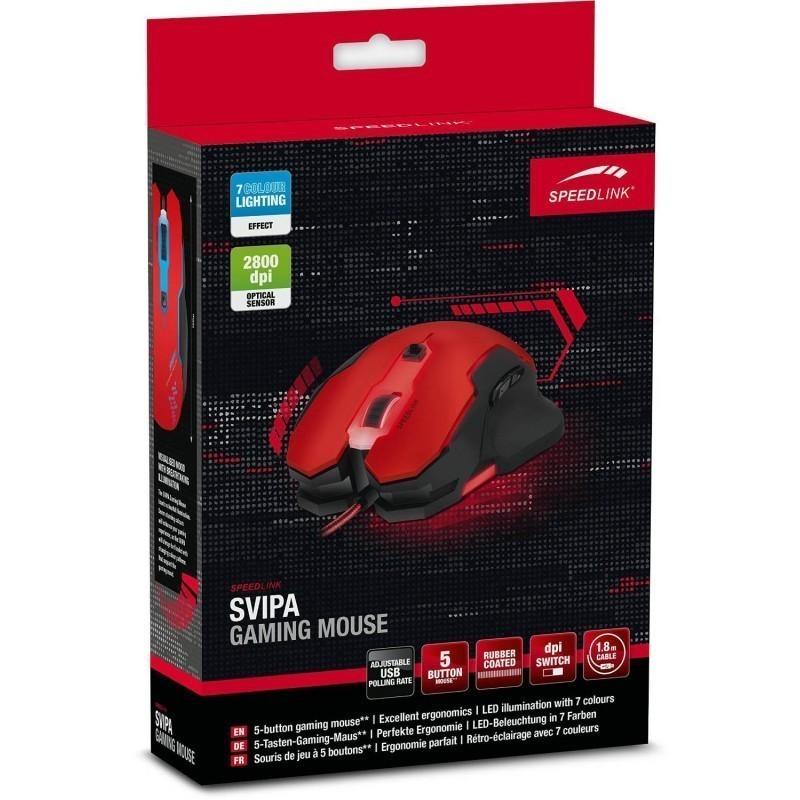 Speedlink hiir Svipa SL680000BKRD, punane/must