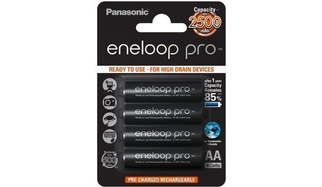 Panasonic eneloop aku pro AA 2500 4BP